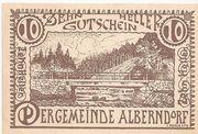 10 Heller (Alberndorf) – avers