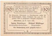 10 Heller (Alberndorf) – revers