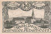 50 Heller (Alberndorf) – avers