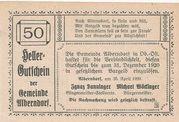50 Heller (Alberndorf) – revers