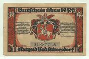 50 Pfennig (Albersdorf, Bad- Gemeinde) – avers