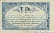 1 franc - Chambres de Commerce du Tarn [81] -  revers