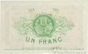 1 franc - Union des chambres de Commerce du Tarn [81] – revers