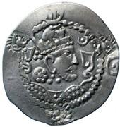 Drachm - Alchon Huns - Countermarked -Anonymous (Sassanian type, Chaganian imitation of Khusro I, Northern Tokharistan mint) – avers