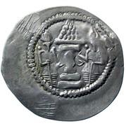 Drachm - Alchon Huns - Countermarked -Anonymous (Sassanian type, Chaganian imitation of Khusro I, Northern Tokharistan mint) – revers