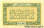 50 centimes - Chambres de commerce d'Alençon et de Flers [61] <Vert, sans filigrane> – revers