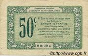 50 centimes - Chambres de commerce d'Alençon et de Flers [61] <Vert, filigrane abeilles> – revers