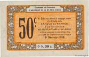 50 centimes - Chambres de commerce d'Alençon et de Flers [61] <Mauve, filigrane abeilles> – revers