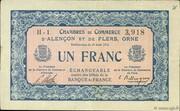 1 franc - Chambres de commerce d'Alençon et de Flers [61] <Bleu, sans filigrane> – avers