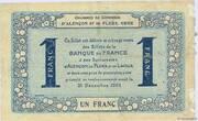 1 franc - Chambres de commerce d'Alençon et de Flers [61] <Bleu, filigrane abeilles> – revers