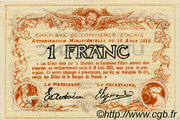 1 franc - Chambre de commerce d'Alais [Alès, 30] – revers