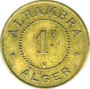 1 franc - Alhambra - Alger – revers