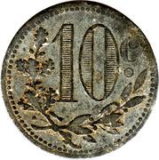 10 centimes (Alger chambre de Commerce) – revers