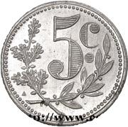 5 Centimes (Alger Chamber of Commerce; Essai) – revers