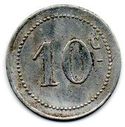 10 centimes (Bougie chambre de Commerce) – revers