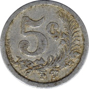5 centimes (Oran chambre de Commerce) – revers