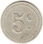 5 centimes (Bougie chambre de Commerce) – revers