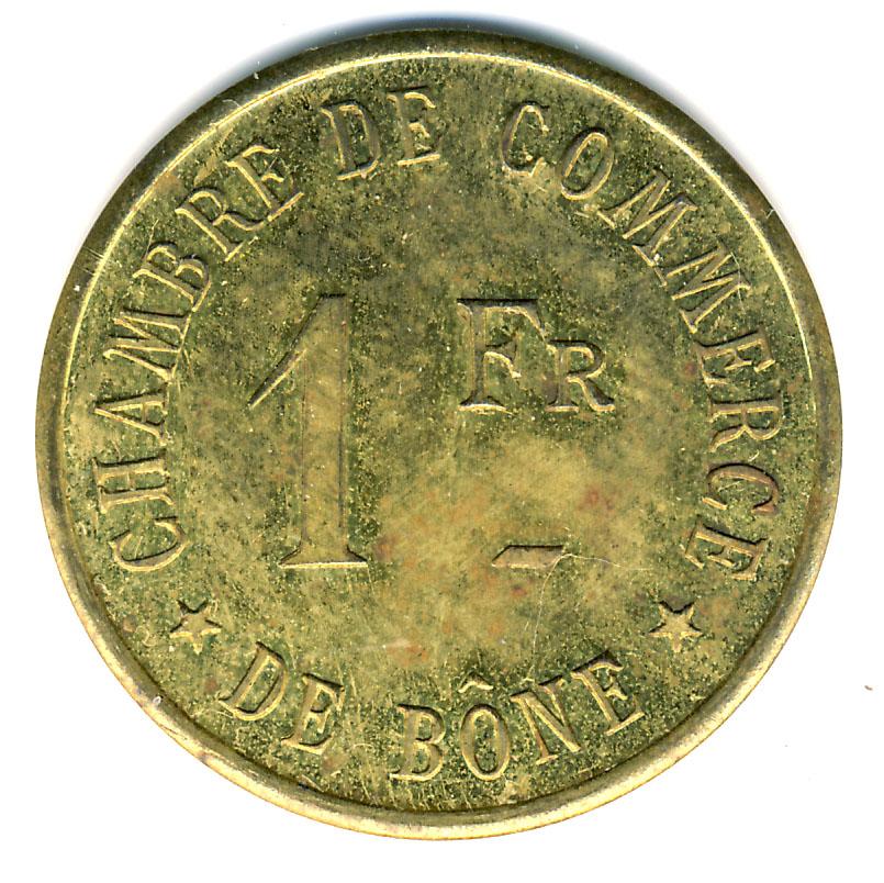 1 franc chambre de commerce b ne alg rie numista for Chambre de commerce skikda