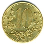 10 centimes Alger-Chambre de Commerce-essai – revers