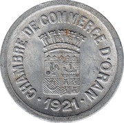 25 centimes (Oran chambre de Commerce) – avers