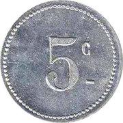 5 Centimes Chambre de Commerce de Bougie ( Petit C ) – revers