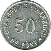 50 centimes - Chambre de Commerce - Bône – revers