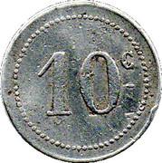 10 centimes (Bone chambre de  Commerce) – revers