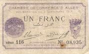 1 Franc CDC Alger -  avers