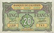 20 Francs Algérie 1948 – avers