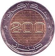 200 dinars (50 ans de l'indépendance) -  revers