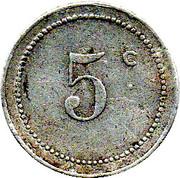 5 centimes (Bone chambre de Commerce) – revers
