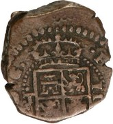 2 maravedis Philippe III oran – avers