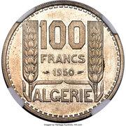 100 francs (Essai) – revers