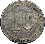 10 Centimes (Bougie Chamber of Commerce) – revers