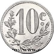 10 centimes (Alger chambre de  Commerce) -  revers