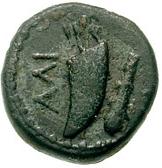 Bronze Æ11 (Alinda) – revers