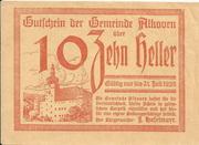 10 Heller (Alkoven) – avers