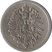 5 pfennig - Wilhelm I (type 1 - petit aigle) – avers