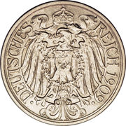 25 pfennig - Wilhelm II – avers