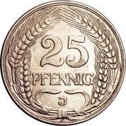 25 pfennig - Wilhelm II – revers