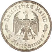 5 reichsmark (Friedrich Schiller - type large) – avers