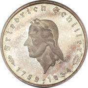 5 reichsmark (Friedrich Schiller - type large) – revers