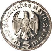 5 reichsmark (Paul von Hindenburg) -  avers