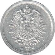 1 pfennig - Wilhelm II (aluminium) -  avers