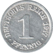 1 pfennig - Wilhelm II (aluminium) -  revers