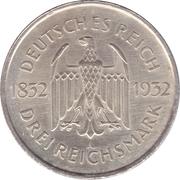 3 reichsmark (Goethe) -  avers