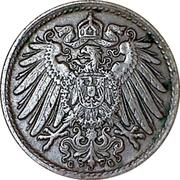 5 pfennig - Wilhelm II (type 2 - grand aigle) – avers