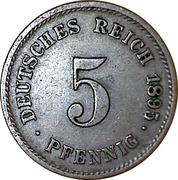 5 pfennig - Wilhelm II (type 2 - grand aigle) – revers