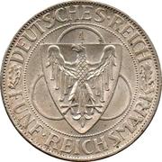 5 reichsmark (Libération de la Rhénanie) -  avers