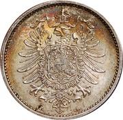 1 mark - Wilhelm I (type 1 - petit aigle) -  avers